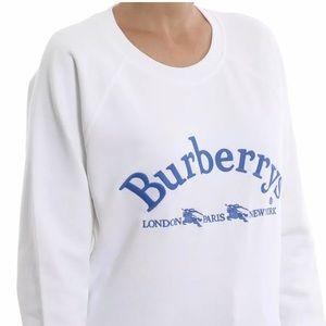 Burberry Battarni Logo Crewneck Sweatshirt White